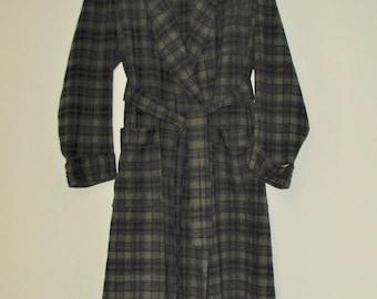 1980s Men's Pendleton Plaid Wool Robe