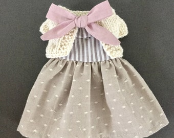 Doll dress- Doll knitted cardigan-Dress up doll