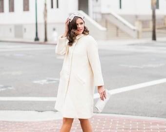 Ivory wool coat | Etsy