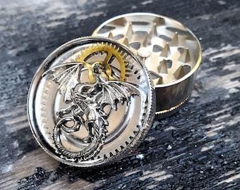 Steampunk Metal Herb Grinder - Steampunk Spice Dragon Grinder-Dragoona Tobacco grinder