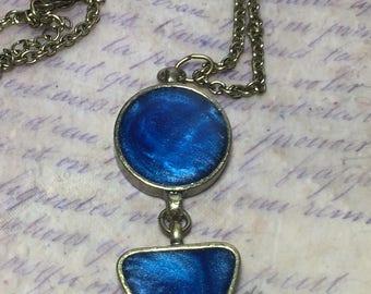 Cobalt Blue resin necklace