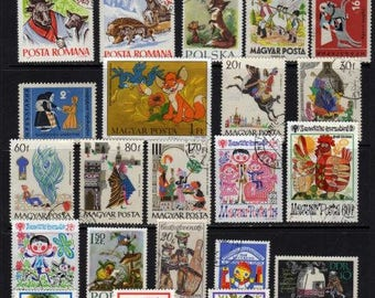Fairy Tales, Fairy Tales Stamps, Fairy Tales Postage Stamps, Poland Stamps, Hungary Stamps, Romanian Stamps,Fantasy Stamps, Scrapbooking