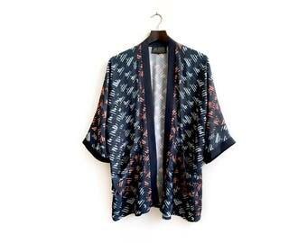 Unique Blue Kimono, Everyday Kimono, Bohemian Kimono Cardigan, Blue Kimono, Kimono Coverup, Blue Summer Kimono, Unique Bohemian Kimono
