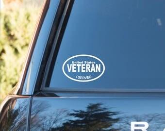 US veteran decal, Veteran decal, Veteran sticker, US veteran vinyl decal, US veteran vinyl sticker, Veteran car decal, Veteran service decal