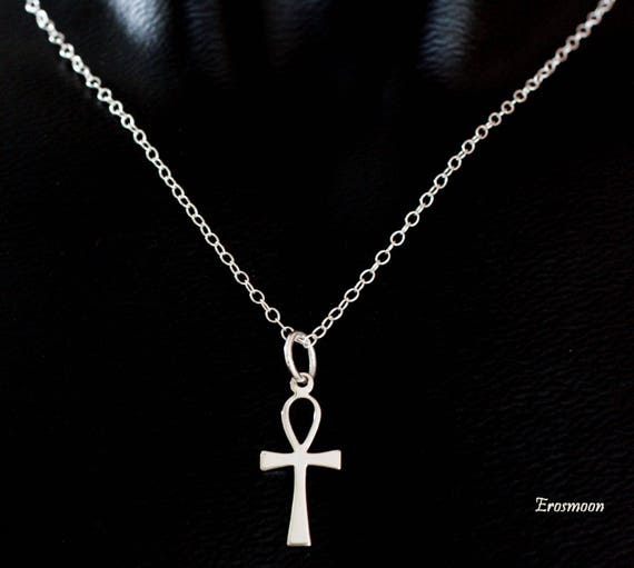 Sterling silver ankh necklace pendant with sterling silver like this item aloadofball Images