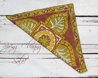 Batik Bandana // Hand dyed cotton neckerchief // Mandala head scarf // SPRING CLEANING SALE!!