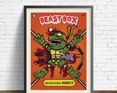 TMNT Garbage Pale Kid Inspired Trading Card Print , Teenage Mutant Ninja Turtle, 80s Cartoon Villain, Comic, Illustration, Geek Art Gift