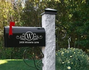 Mailbox decal, wedding gift, address decal, mailbox sticker, mailbox numbers, mailbox address, Custom Mailbox, Address Vinyl, Curb Appeal,