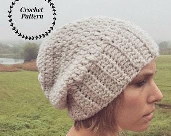 PATTERN Wanderer Slouchy Crochet Beanie | Crochet Pattern | Beginner Crochet | Slouchy Crochet hat pattern| Crochet Pattern | DIY Hat