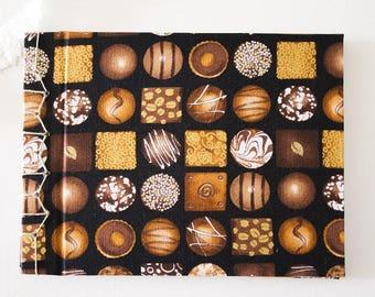 Chocolate notebook, Notebook japanese handmade bookbinding, notebook, travel notebook, stationery, sketchbook