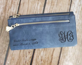 wallet, leather wallet, personalized wallet, personalized womens wallet, monogram wallet, women wallet, women's wallet, christmas gift
