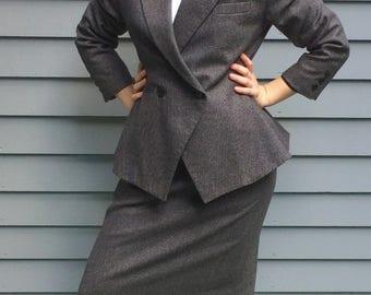 Kasper for A.S.L A-symmetrical Skirt Suit