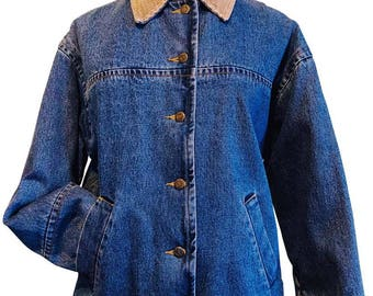 Braetan Blue Denim Jacket With Corduroy Collar