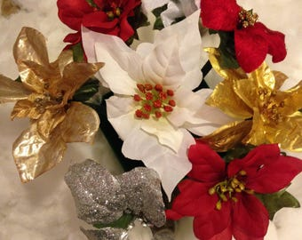 5 Holiday Flower Pens