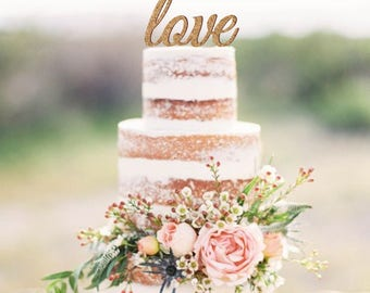Love cake topper, cork cake topper, wedding cake topper, rustic cake topper, wood and cork topper, vineyard wedding decoration