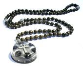 Orgone Mala Necklace - 'Sacred Intentions' - Hematite - Ankh - Hamsa - 108 Prayer Beads - Boho Necklace, Spiritual Gift - Mantra Meditation