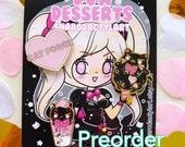 PREORDER Sharodactyl Dva Desserts Set:Black Cat Edition