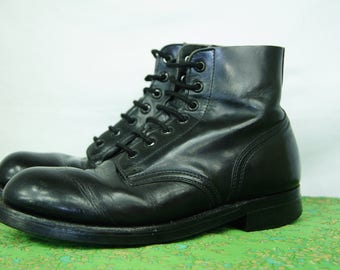 Vintage 90s Grunge Boots Biltrite - Steel Toe - Size 6 E Men's US - Size 7 Womens US - 7-hole Military Army Boots - Combat Boot - D401
