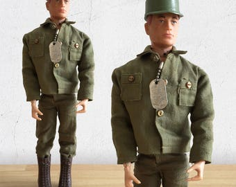 1960s GI Joe Action Figure / Talking GI Joe Army Commander by Hasbro Patent Pending Army Action Doll / Collectible Action Figure
