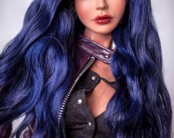 Midnight beauty (natural angora wig for bjd SD, MSD, Tiny)