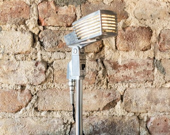 Vintage Monarch TM-20 Art-Deco Upcycled LED Microphone Lamp