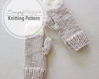 Knitting Pattern // Chunky Knit Mittens // Knit Gloves // Winter Mittens // Simply Maggie