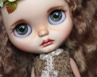 OOAK Custom Blythe with mohair open mouth and tiny teeth Art Doll Olivia*~ by AtelierBYD - Offers are Welcome