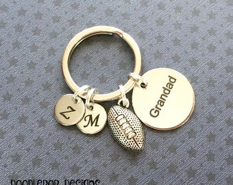 Personalised Grandad gift - Birthday gift for Grandad - Grandad keyring - Rugby gift - Father's Day gift - Rugby keyring - Stocking filler
