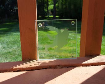 Falco SSB4 Etched Glass Coaster