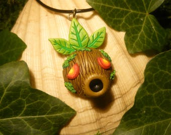 "Deku Mask - TLoZ: Majoras Mask - handmade Pendant ""Made to Order"""
