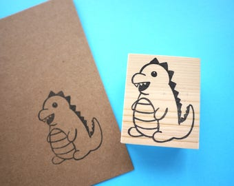 Dinosaur rubber stamp, Kid's gift idea, Birthday invitation, Baby shower