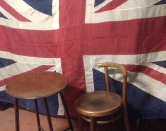Huge Union Jack, English flag, jute fabric, WWI