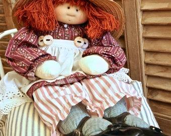 """Little Souls Doll OOAK Signed by Gretchen Wilson  1995 """"Jillian"""" 24"""""""
