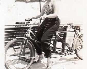 Pretty Tandem Bicycle Girl