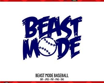 Baseball SVG Beast Mode SVG Baseball Mom Shirts Baseball Shirts svg Cricut Files Silhouette Files Digital Files Beast Mode Shirt Beast svg