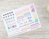 Hobonichi Monthly Planner Stickers; Spring Kit; Monthly Sticker Kit; Hobonichi Techo Cousin Sticker