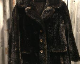 Vintage 'Russel Taylor' Dark Brown Fur Coat