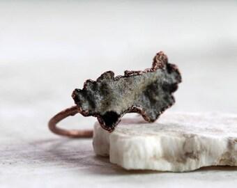 Fulgurite Ring Size Lightning Strike Petrified Lightning Collector Gift Unique Ring Glass Tube Lightning Strikes Sand