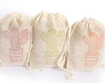 Cactus Fiesta Bags Party Set 15 birthday party baby shower wedding goodies treat bag