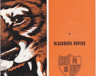 Vintage Football (soccer) Programme - Hull City v Blackburn Rovers, 1968/69 season