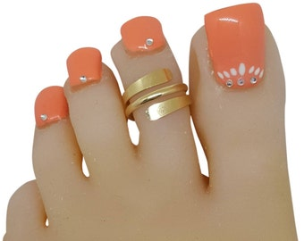 14k Gold Filled Wrap Adjustable Toe Midi Pinky Ring #toerings