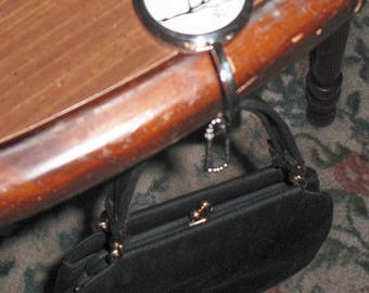 PURSE HANGER, Mirror & Key Chain Combined Vintage Purse Handbag Accessory