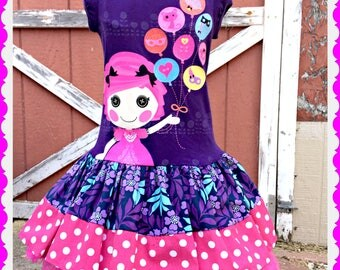 girls Lalaloopsy dress Ready to ship size 4 last one