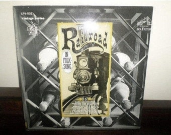 Vintage 1966 Vinyl LP Record The Railroad in Folk Song Near Mint Condition Railroad/Train Sounds 5154