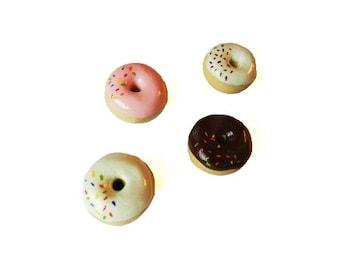 Donut Magnets - Refrigerator Magnet - Food Magnet - Fridge Magnet - Polymer Clay Magnet - Small Magnet - Doughnut Magnet, Donut Party Favor