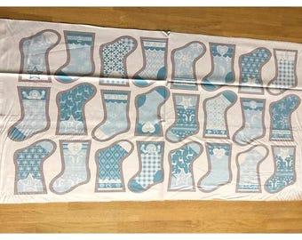 Nordic Stocking Advent Calendar Panel by Fabric Freedom