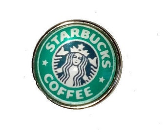 Glass Coffee 18 mm snap button
