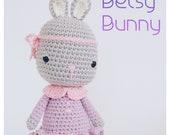 Crochet Amigurumi Pete the Bear Stuffed Animal PATTERN ONLY PDF Download Toy