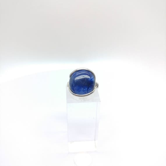 Blue Sapphire Ring  | Sterling Silver Ring sz 5.5 | Blue Stone Ring | September Birthstone Jewelry | September Birthstone Ring | Blue Stone