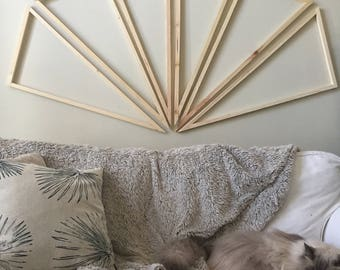Made to Order, Askew Triangle Frames, set of 6, Wall Hanging, select finish color